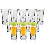 Shot Glass, RUCKAE 2-Ounce Shot Glasses with Heavy Base, Clear...