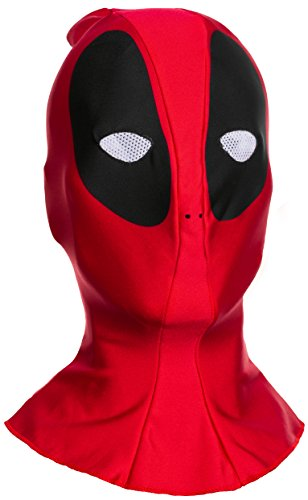 Marvel Men's Deadpool Adult Overhead Fabric Mask, Multi, One Size
