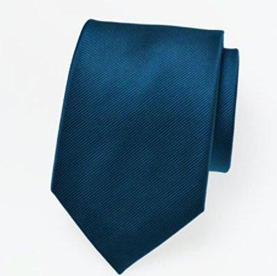 Fiesta Palace - Cravate Unie Bleu petrole 46cm