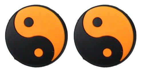 Pro's Pro - Damp - Tai Chi - Yin Yang - Vibrationsdämper/Stoßdämpfer für Tennisschläger schwarz/orange