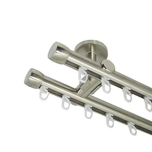 Deko-Team nnenlauf Gardinenstange 20 mm, mit Endkappen, zweiläufig, Deckenbefestigung (300 cm)