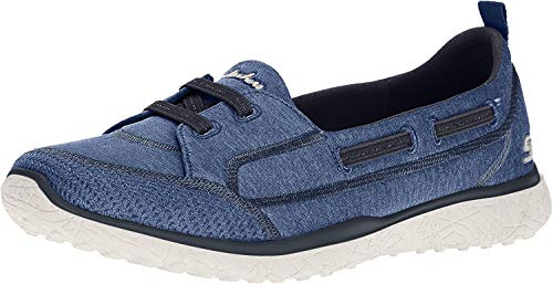 Skechers Sport Women's Microburst Topnotch Fashion Sneaker,navy,8 M US