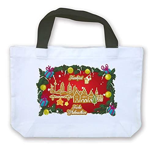 die stadtmeister Einkaufstasche Weihnachts-Skyline Frankfurt