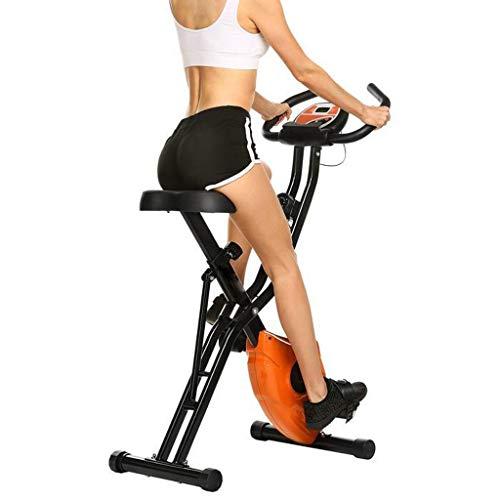 Hometrainer, opvouwbare hometrainer met grote hartslagmeter en comfortabel zitkussen voor cardiotraining thuis