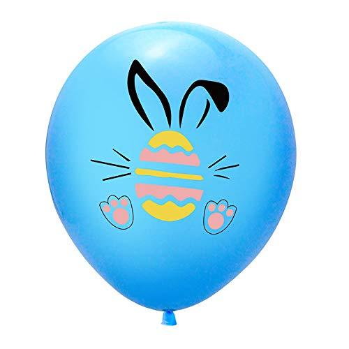 TQSDYY Easter Rabbit Party Balloons,10Pcs Easter Balloons Aluminum Film Rabbit Easter Egg Printing Balloons Wedding Decoration Set For Baby Child Gift,Blue