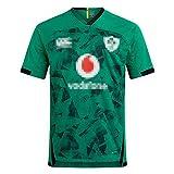 Maillot De Rugby, Maillot De Rugby À Domicile Coupe du Monde D'Irlande 2021, Irlande Extérieur Vert Maillot De Football Respirant Polo Shirt Supporter Sport Top Green-XL