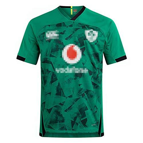 DIWEI Rugby-Trikot, 2021 Irische Weltmeisterschaft Heim-Rugby-Trikot, Irland Auswärts Grün Atmungsaktives Fußballtrikot Poloshirt Unterstützer Sport Top Green-L