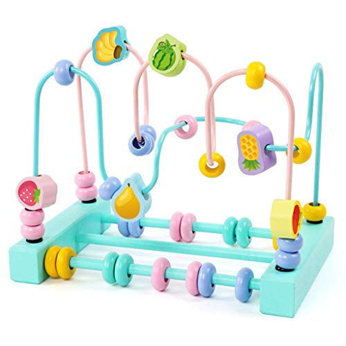 Jouets pour bébés et enfants Jouets éducatifs en perles pour plus de 12 mois Jouets en bois pour bébés Jouets assemblés Jouets pour le développement de l'intelligence Garçons et filles Jouets éducat