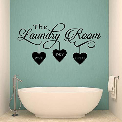 Calcomanía de pared de belleza para cuartos de lavandería pegatinas de pared pegatina de pared de moda moderna murales de decoración de pared A8 43x86cm