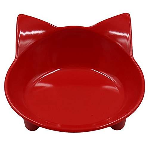 genetic Portátil Perro Bowl cerámica Viajes Plato de alimentación de Perrito del Gato del Perro casero del vajilla Agua de la Taza para el alimento Red Cuenco de Agua