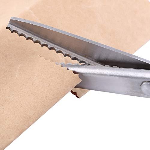 Tijeras dentadas, tijeras en zigzag, cortadora de borde triangular, tijeras de metal, decoración de recorte, fabricación artesanal para corte de papel de tela(5mm)
