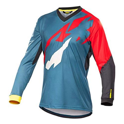 Bwchuxin Camisetas De Ciclismo MTB para Hombres, Maillot De Ciclismo De Manga...