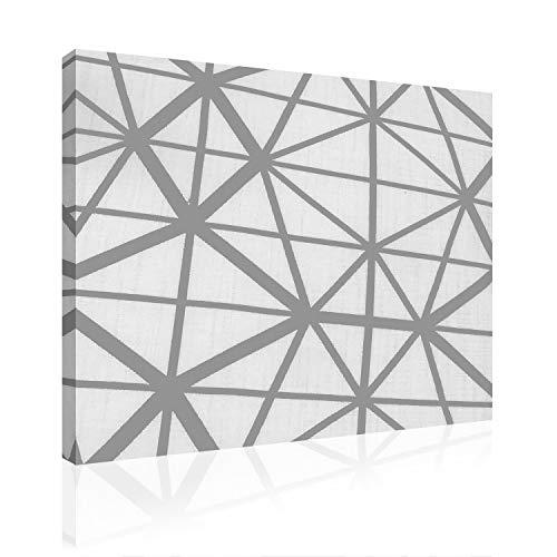 Akoestisch beeld AbsorPic grafisch motief net - kleur zwart |Premium breedband geluidsabsorberend verbetert de smaak van de ruimte | aanzienlijk minder nagel | 100 x 50 x 3 cm - Made in Germany, Keulen