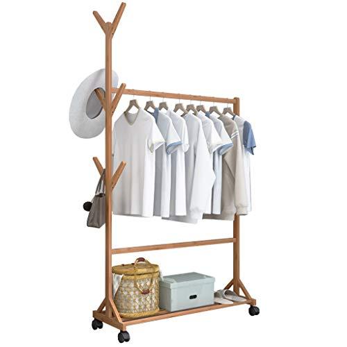 JHYMJ kledingrek hal slaapkamer plank huis met riemschijf rek eenvoudige kleerhanger