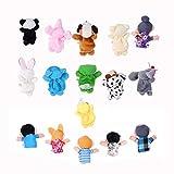 Jzhen Juguete Marionetas de Dedos Animales de Mano títeres muñecos para Bebé,16Pcs