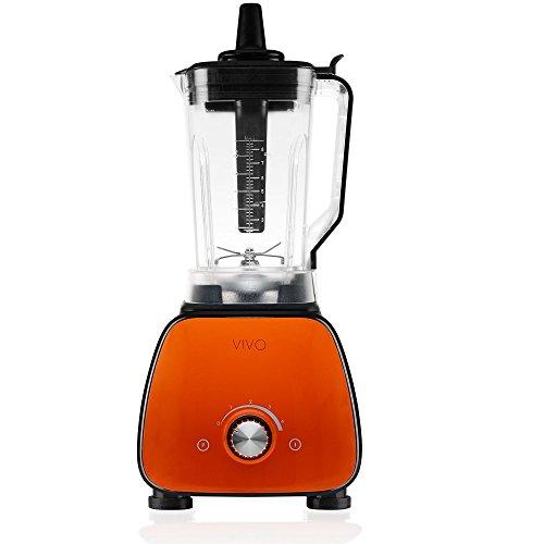 Classe Italy Vivo Mixeur professionnel, 1800 W, 2 litres, plastique, noir/orange