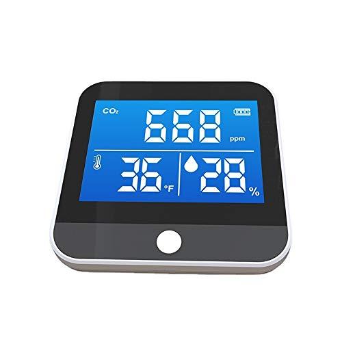 APROTII CO2-Detektor, CO2-Sensor, Analysegerät, Luftqualitätsmonitor, Detektor, Temperatur, Luftfeuchtigkeit, Infrarot, NDIR Detektor