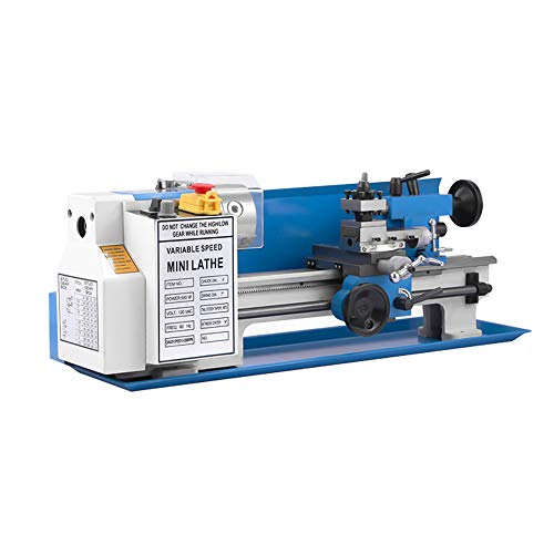 550W Metal Lathe Precision Bench Top, Mini Metal Lathe, Metalworking Lathe Machine, Variable Speed 50-2500 RPM, CE/FCC/CCC/PSE