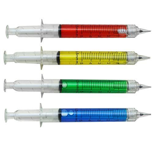 Weilifang 4pcs 0.5mm Azul Refill bolígrafos de la jeringuilla del bolígrafo de 0,5 mm en Forma de bolígrafo Escuela con Suministros de librería Regalos