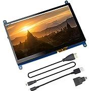 Jun_Electronic Für Raspberry Pi 4 Bildschirm, 7 Zoll HDMI kapazitiver IPS Touch Monitor - 1024 * 600 HD LCD Display (Unterst¨¹Tzung f¨¹r Raspbian Buster-System)