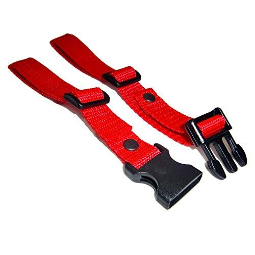 GURTIES® Brustgurt für Schulranzen Schulrucksack Rucksack universal 27 Farben (rot)
