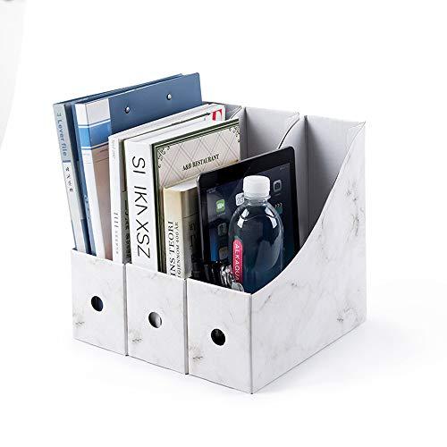 3 revisteros papel kraft revistas manualidades caja