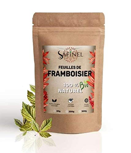 Tisane De Feuilles de framboisier séchées - BIO Certifié - 100% naturelle - ( 100 grammes pour environ 45 tisanes )