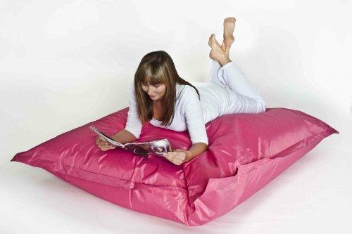 XXL Sitzsack 'Fritz' Klassik, befüllt, Indoor/Outdoor, Größe 180cm x 140cm x 30cm, Farbe Pink