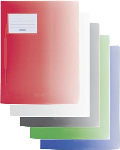Baier & Schneider Schnellhefter FACT! Colour Code, Kunststoff, 240 x 313 mm (5er Pack, Mens Edition)
