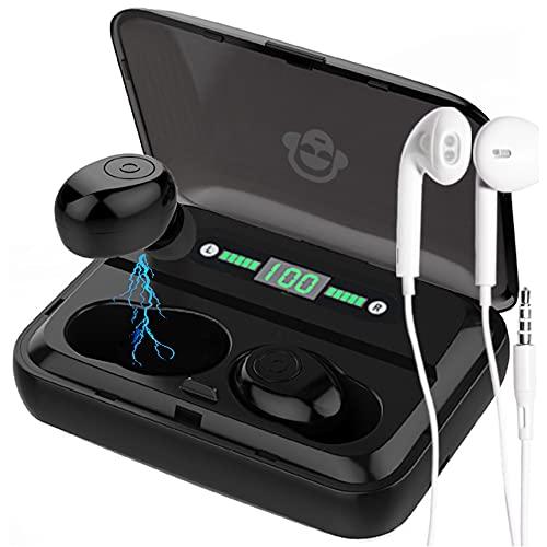 Cuffie Bluetooth Eienn Auricolari Wireless Senza Fili Più Cuffiette Con Fili Per Telefono In Regalo Gaming 2021 Microfono Noise Qualità Audio Impermeabili Ergonomici Video Tv Powerbank Running
