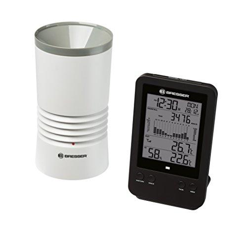 Bresser Optics 7002530 Negro, Blanco - Pluviómetro (Batería, AA, 1,5 V, 109 mm, 109 mm, 200 mm)