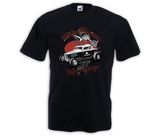 Hot Rod T-Shirt Motor Maniacs Zündkerze Rockabilly Tattoo V8 Rat Rod Gr.M