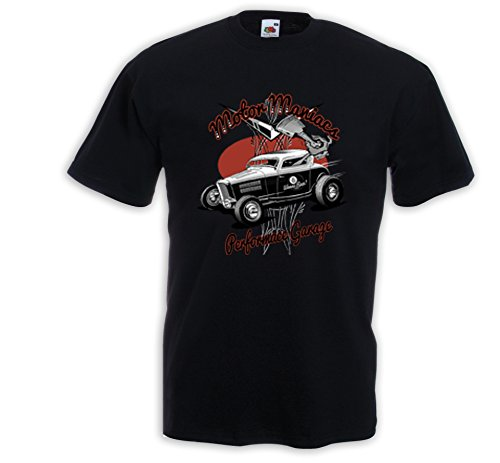 Hot Rod T-Shirt Motor Maniacs Zündkerze Rockabilly Tattoo V8 Rat Rod Gr.M