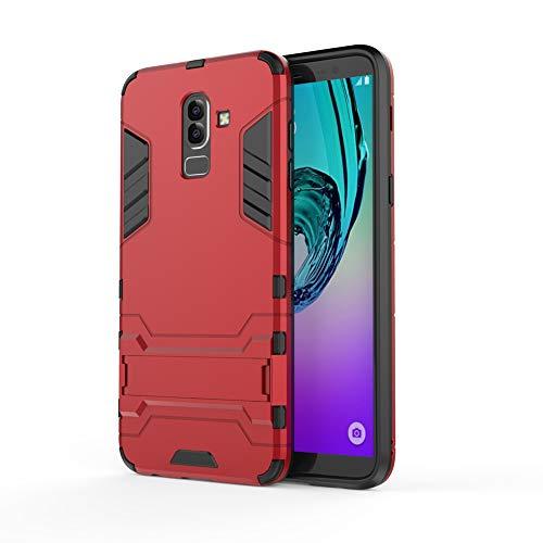 Capa protetora traseira rígida para Samsung Galaxy J8 2018 Slim Layer (Vermelho)