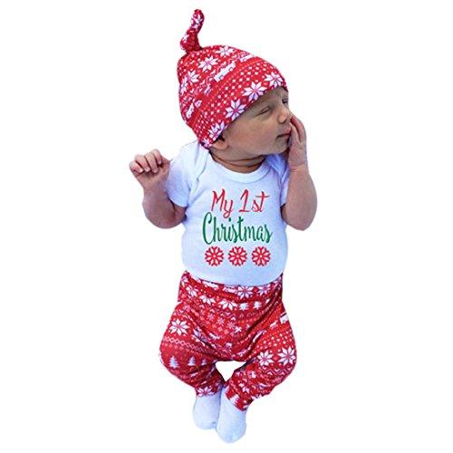 Bebe Naissance Noel Vetement HIver Pyjama Ensmeble Grenouillere a manche longue (70)