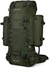 Mardingtop 65+10L Molle Hiking Internal Frame Backpacks with Rain Cover Army Green-65+10L