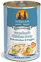 Weruva Classic Dog Food, Grandma's Chicken Soup with Chicken Breast & Veggies, 14oz Can (Pack of 12)