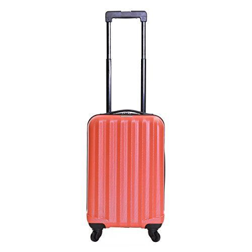 Karabar Hard Cabin Hand Luggage Bag 54 cm 2.2 kg 31 litres 4 wheels, Monaco Red