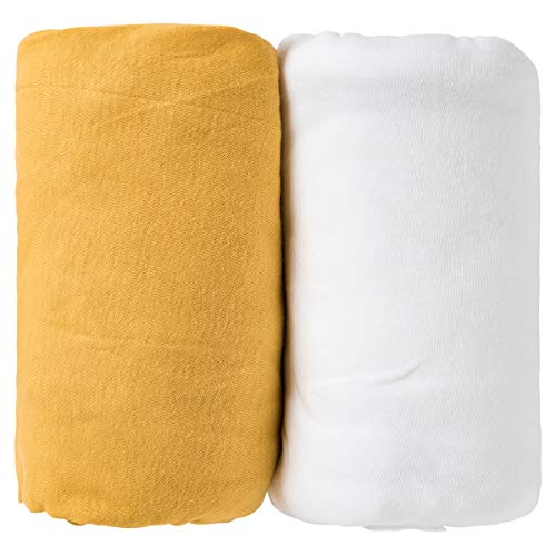 BabyCalin Lot de 2 Draps Housse 70 x 140 x 17 cm
