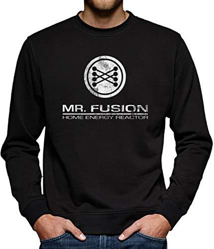 Mr Fusion Reactor Sweatshirt Pullover Herren L Schwarz