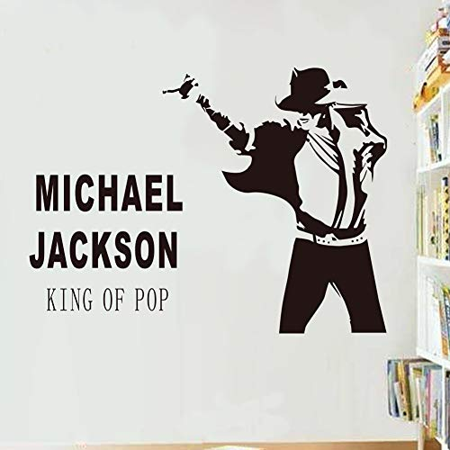 Tioua Vinyl Peel and Stick Mural Removable Wall Sticker Decals for Room Home Dancing Michael Jackson King of pop for Bedroom Living Room Dance Room Home Decor
