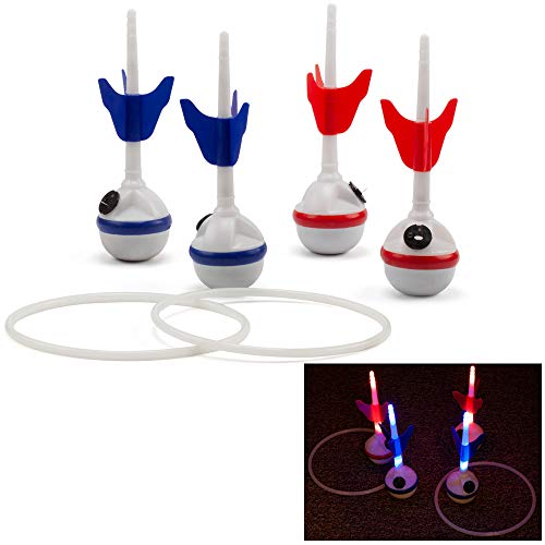 GSE Games & Sports Expert Lawn Darts Game Set with LED Lights. Great for Backyard, Lawn, Beach, Park and More