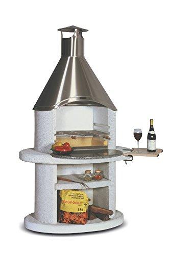 Wellfire - Grillstellen in Grau-Weiss, Größe H: 192cm - B: 110cm - T: 83cm