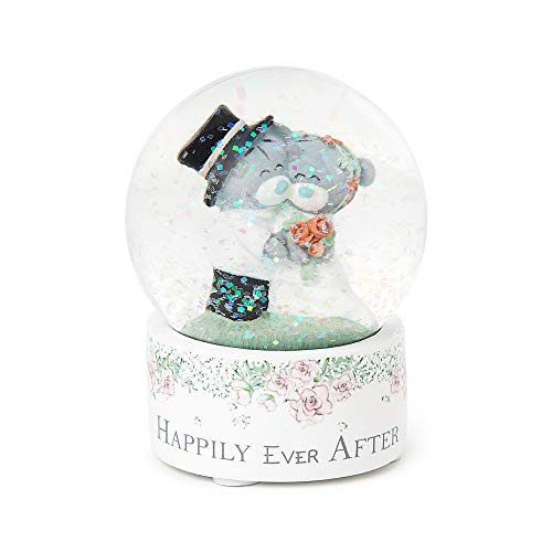 Me To You AGE01002 Tatty Teddy 'Happily Ever After' Wedding Snow Globe