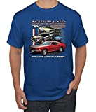 Ford Mustang Classics Untamed American Spirit   Mens Planes/Trains/Automobiles Tee Graphic T-Shirt, Royal, 2XL