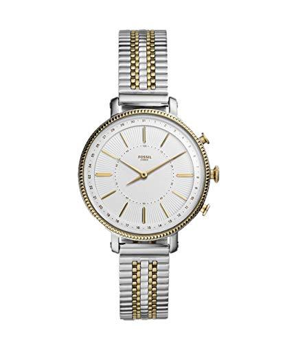 FOSSIL Hybrid Smartwatch Cameron Tweekleurig goud en zilver roestvrij staal voor dames FTW5057