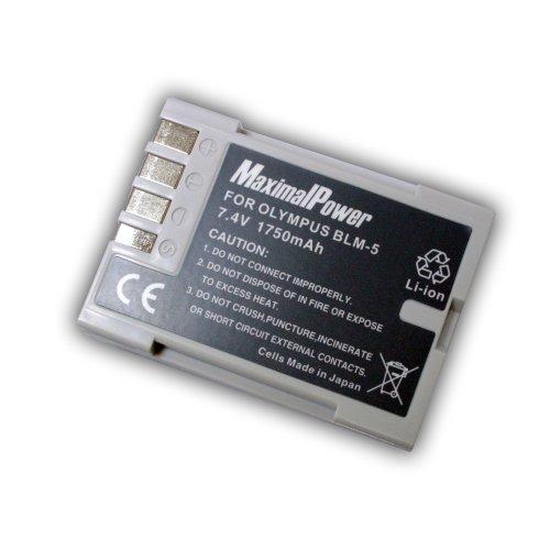 Maximal Power dB Oly BLM5sostituzione Olympus BLM5batteria per Olympus DSLR E3, E5, E-30telecamere