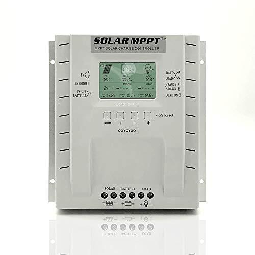 Douup MPPT 60Amp Solar Panel Long-Term Maximale Lade- Und Entlade-40A 12V / 24V Auto, Mit LCD-Anzeige Max 100V, 1560W Eingang Für Blei-Säure-Phosphat-Batterie, Last Timer-Einstellung