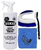 Folex Instant Carpet Spot Remover Kit - 32 OZ Spray Folex Carpet and Upholstery Stain Remover - EZ Scrub - Mini Detail Brush - Foxtrot Microfiber Finishing Cloth