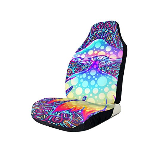 Car Seat Cover, Universal Car Seat Covers, Magic Mushrooms Seat Covers Universal for Front Seat, Automobile Seats Protector Fits Most Car Trucks SUV Arizona